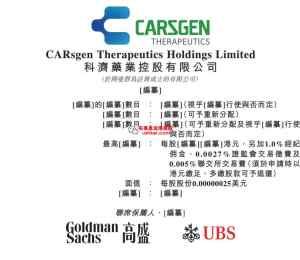 科济药业,高瓴资本参股的医药股,香港IPO招股在即-布莱恩说港美股